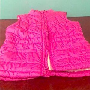 Pink fur lined vest
